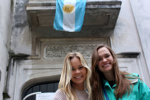 two students in Buenos Aires