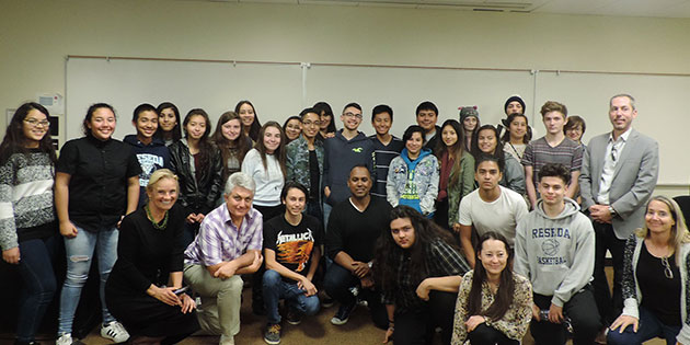 Reseda High School: the Arts, Media and Entertainment Magnet students at Pepperdine University