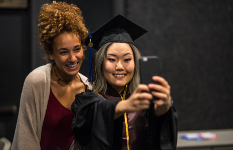 taking selfie at graduation