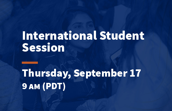 virtual pepperdine preview international student session
