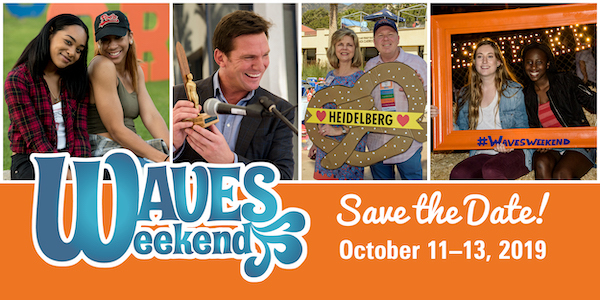 waves weekend save the date october 11-13, 2019