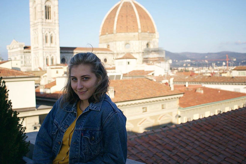 Seaver student Ryanne Gordon in Florence, Italy