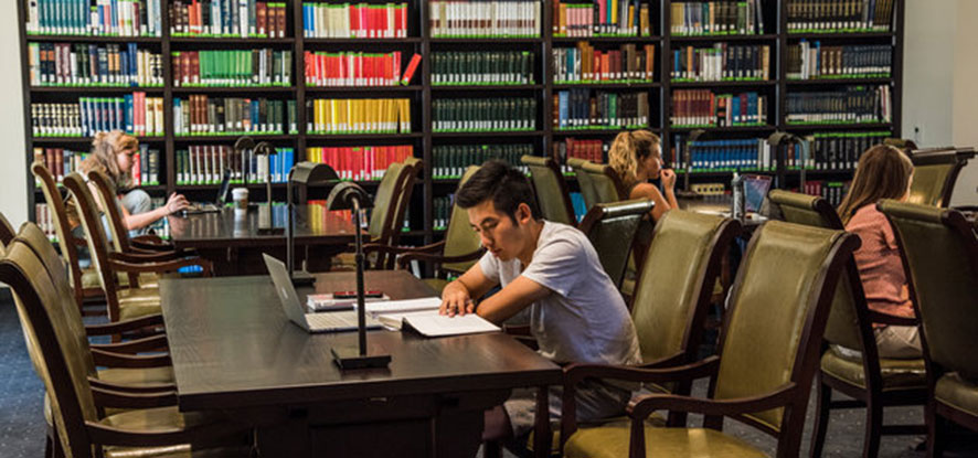 Students studying in Payson library