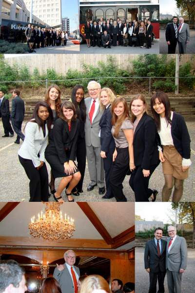 Pepperdine student with Warren Buffett