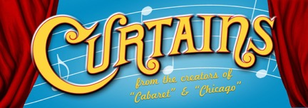 Curtains theatre poster