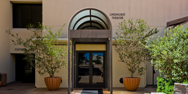 exterior of Lindhurst Theater at Pepperdine University