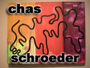 Senior art exhibitor, Chas Schroeder
