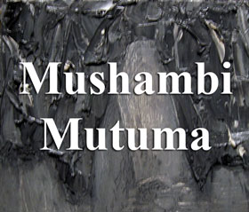Senior art exhibitor, Mushambi Mutuma