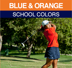 BLUE & ORANGE School colors
