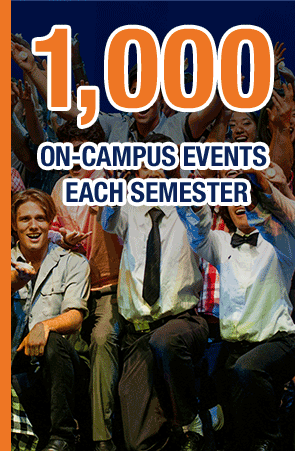 1,000 on-campus events each year