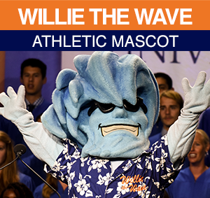 Willie the Wave Athletic Mascot