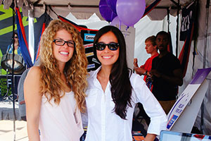 two Pepperdine students at CultureFest Club Fair
