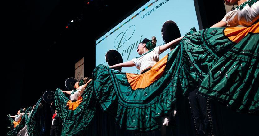 Folkloric dancers at Loqui