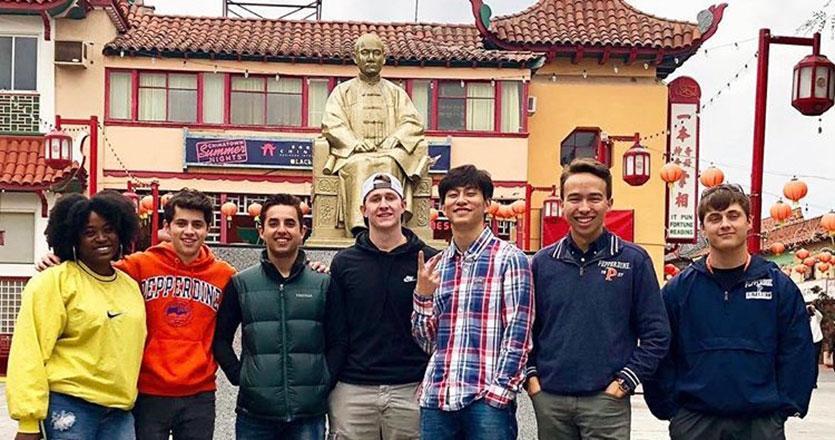 Students visiting Chinatown