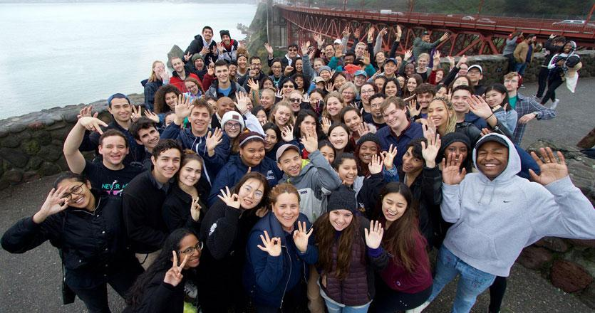 Students participating in the sophomore in San Fran trip
