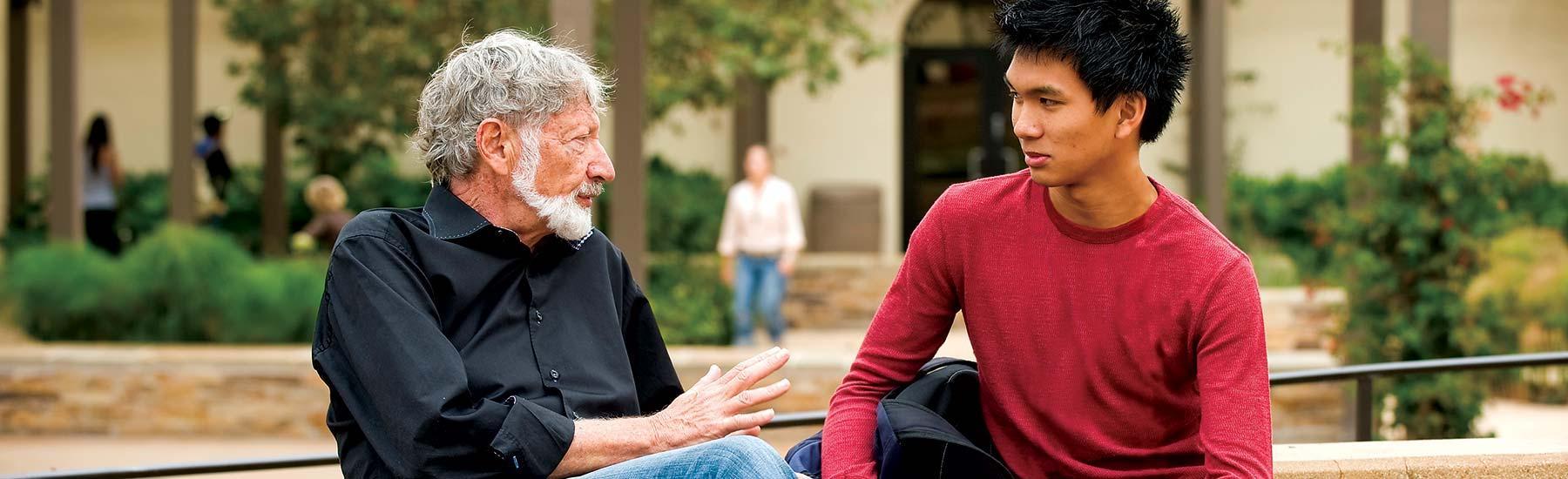 Seaver professor mentoring