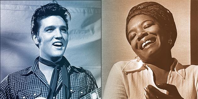Elvis Presley and Maya Angelous