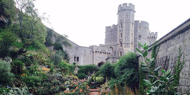 The famous Windsor Castle and garden.
