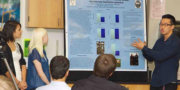 Pepperdine students' poster presentation