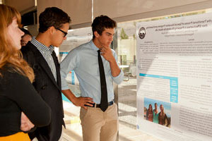 Pepperdine students at Keck poster presentations