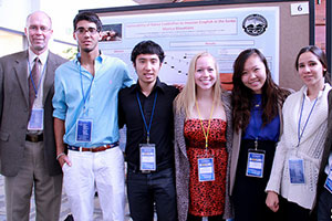 Dr. Lee Kats and Pepperdine students at conference
