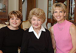 Image: Sara Young Jackson, her mother Helen, and her daughter Jessica