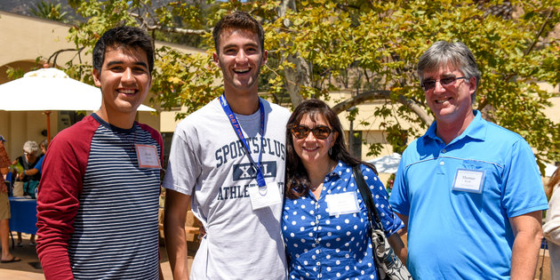 Pepperdine parents with students