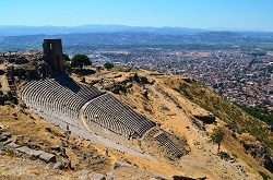 The Pergamum Theatre outside Bergama