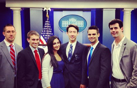 Pepperdine students at the White House