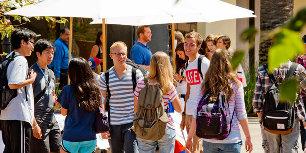 Seaver College students on campus