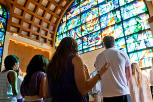 students in Pepperdine chapel