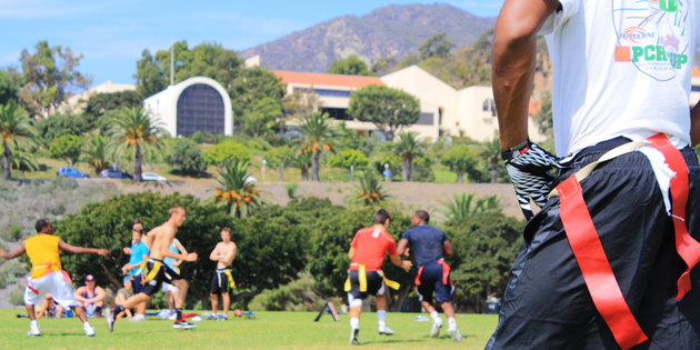Pepperdine campus recreation flag football game
